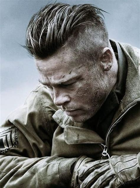 Brad Pitt S Fury Haircut A Stylish Undercut Gallery | undercut or slicked back high fade brad pitt s fury