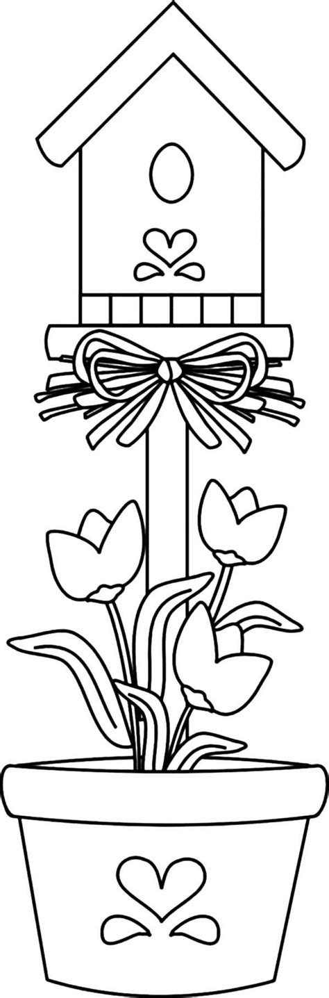 coloring pages bird houses birdhouse coloring page coloring home