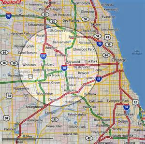 Map Of Chicago Suburbs by Chicago And Surrounding Suburbs Maps Quotes