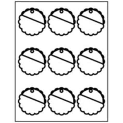 Templates Scallop Round Tags 9 Per Sheet Avery Avery Scallop Labels Template