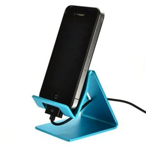 Cell Phone Stands For Desk by Aqua Blue Aluminum Desktop Stand For Iphone 3