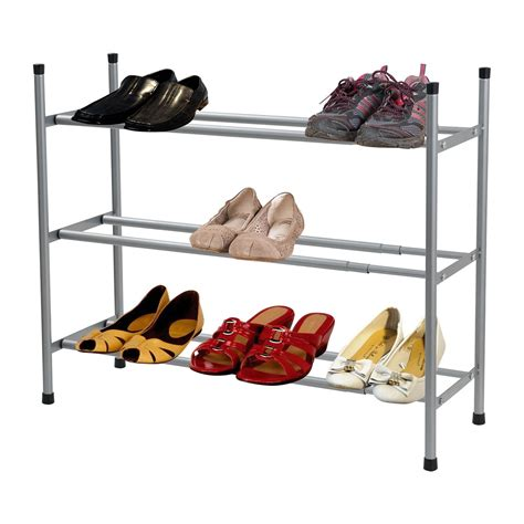 3 tier shoe storage stand 2 3 or 4 tier grey stackable extendable shoe rack tidy