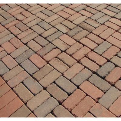 calstar 8 in x 4 in tumbled brick paver