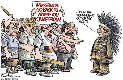 political cartoons on immigration immigration issues who is the real immigrants p