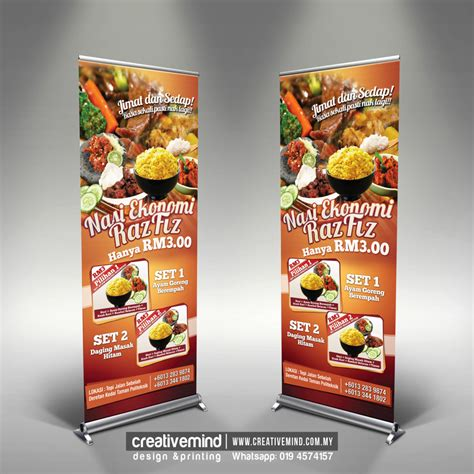 creative mindflyers banner streamer design for food