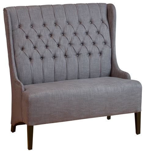 charcoal grey loveseat helen wingback loveseat sofa charcoal grey transitional