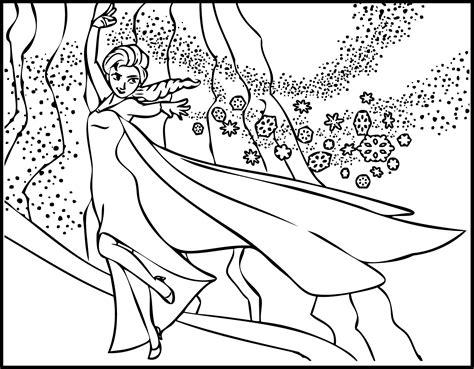 elsa magic coloring page elsa the snow showing magic coloring page wecoloringpage com