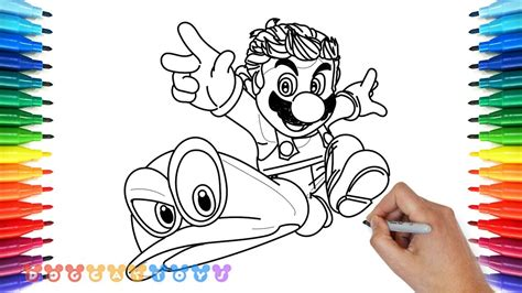 coloring pages mario odyssey drawing super mario odyssey 3 drawing coloring pages