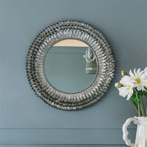 mirror s silver feather mirror small mirrors graham and green