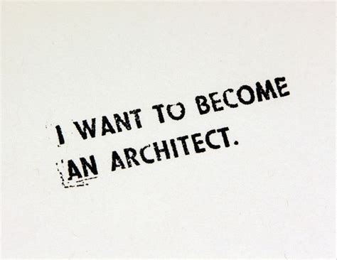 i want to be i want to become an architect allan wexler