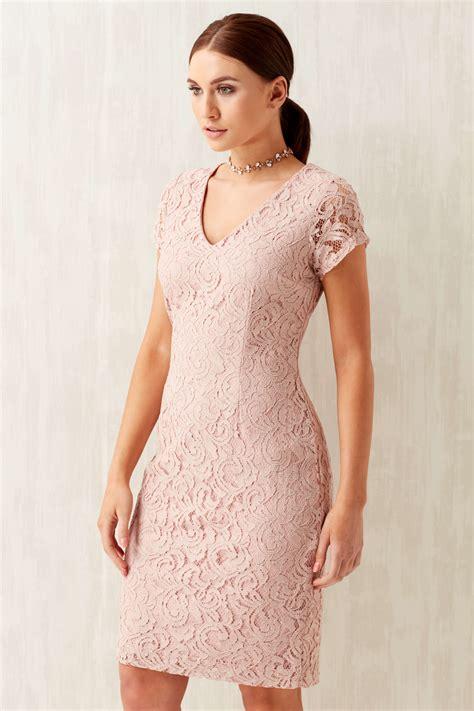 V Neck Dress Pink v neck lace dress in originals uk