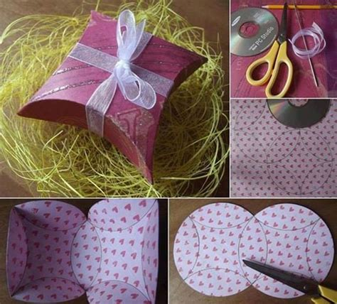 How To Make A Box Out Of Wrapping Paper - diy easy gift box using a cd home diy