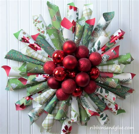 Make A Paper Wreath - how to make a paper cone wreath