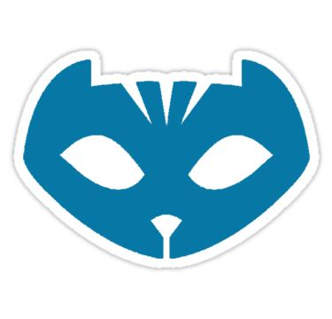 """catboy mask pj masks"" stickers by tpgraphic 