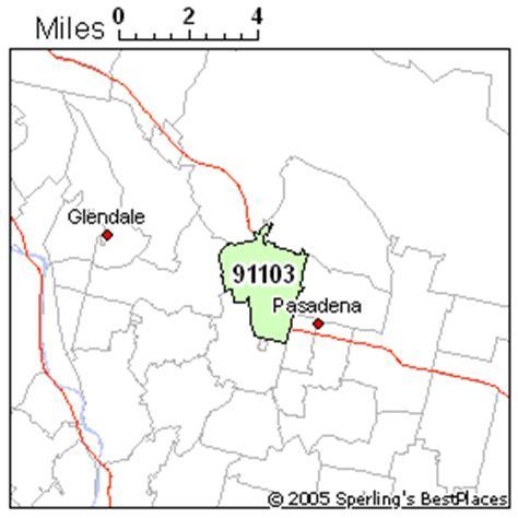 zip code map pasadena ca best place to live in pasadena zip 91103 california