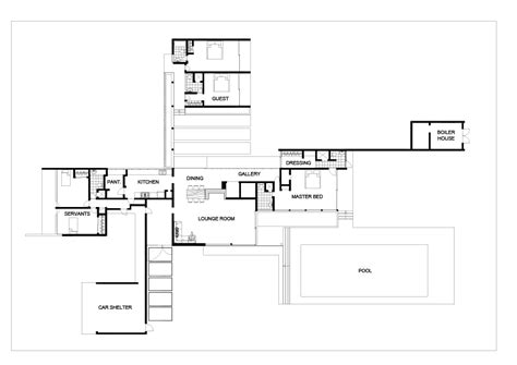 kaufmann house floor plan kaufmann desert house plan numberedtype