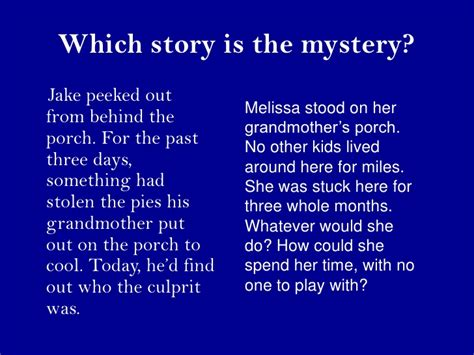 Stories Of Mystery mystery stories for third graders with