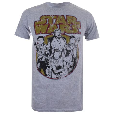 Cgv Star Wars Merchandise | star wars men s the last jedi rebel group t shirt light