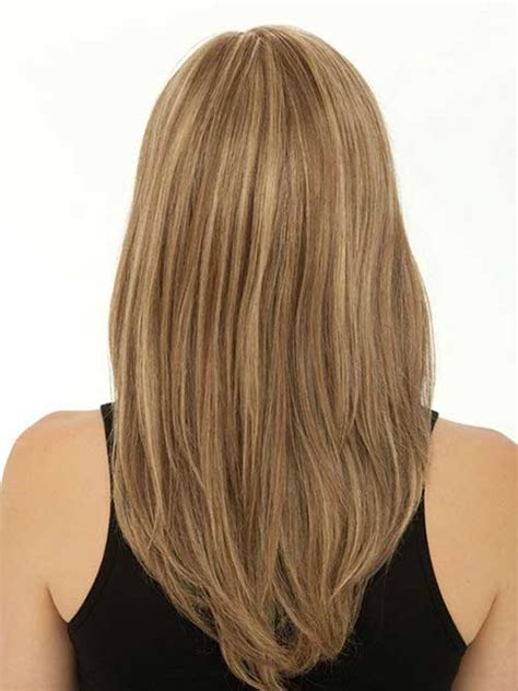 hairstyles for medium length hair back view lovely layers medium length wavy highlighted hair back