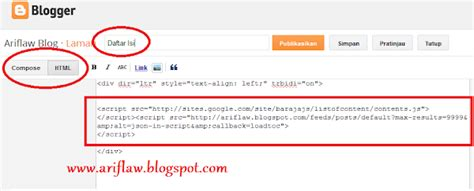 cara membuat blog bagus dimashariadi cara membuat daftar isi blog yang bagus
