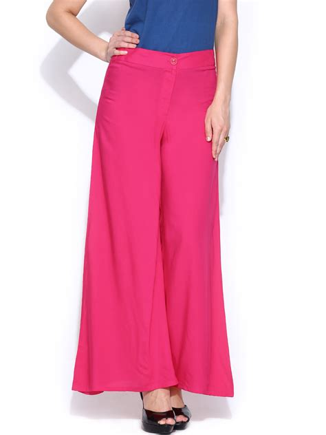 Pink Set Top Trousers M L Xl 19046 myntra global pink palazzo trousers 752572