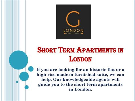 short term appartments ppt short term apartments in london powerpoint