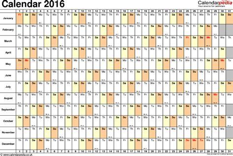 calendar 2016 excel calendar template 2017