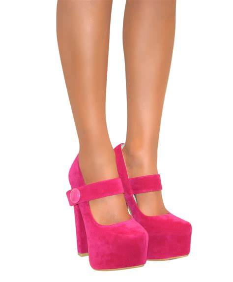 maryjane high heels womens platform chunky block high heels court