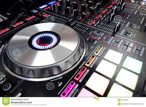 consol dj dj console stock photo image 59128221