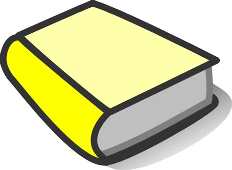 yellowing books yellow book reading clip at clker vector clip
