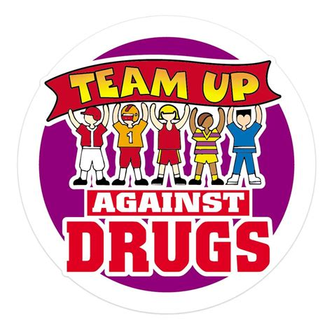 team   drugs stickers   roll positive promotions