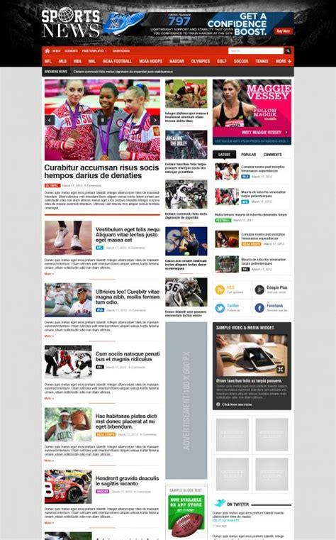 themes blogspot news premium sport wordpress theme sportnews wordpress