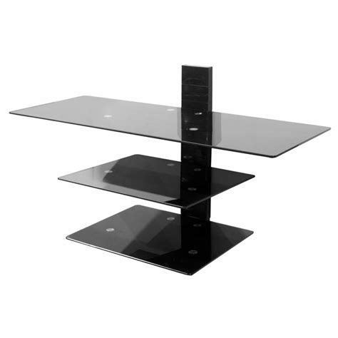 avf wall mounted glass shelving system for 50 in tvs