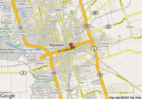 us map stockton california map of rodeway inn stockton stockton