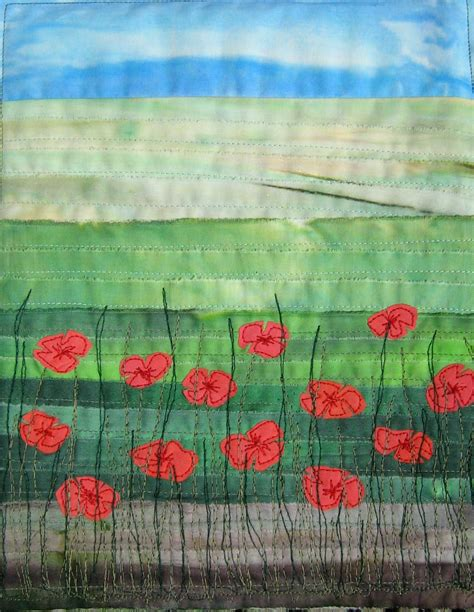 Poppy Quilt Pattern by Quilt Routes Alternative Poppies Tutorial