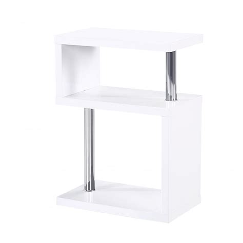 White Gloss Side Table Mfs Furniture Miami White High Gloss Side Table Mfs Furniture From Emporium Home Interiors Uk