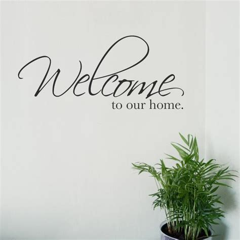 welcome to our home wall sticker by wallboss wallboss