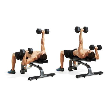 workout routine with dumbbells and bench alternating dumbbell bench press the 25 most powerful