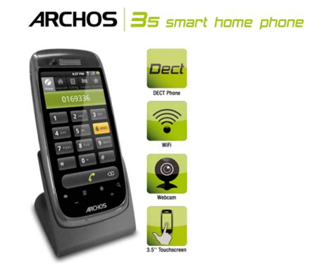 android home phone archos smart home phone lands across the pond talkandroid