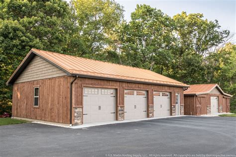 Martin Sheds by Building Showcase Garage With Copper Metal Roof A
