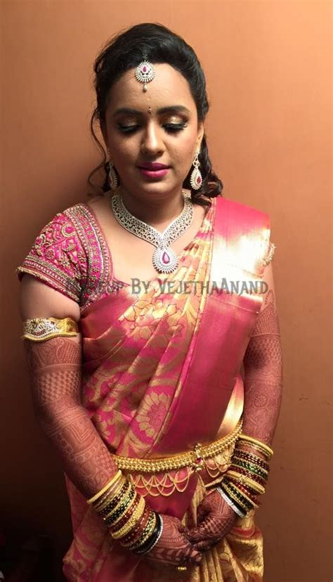 bridal hairstyles for silk saree traditional southern indian bride indrani wears bridal