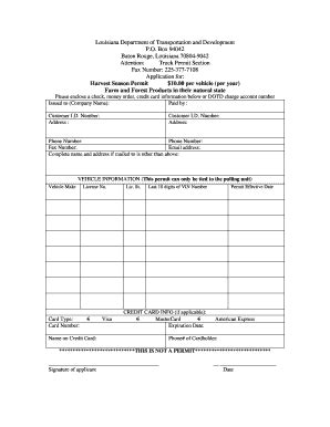 sle invoice harvest louisiana harvest permits fill online printable