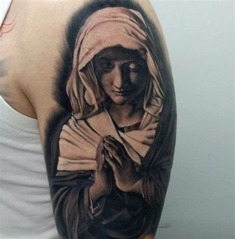 praying mary tattoo designs 80 ways to express your faith with a religious