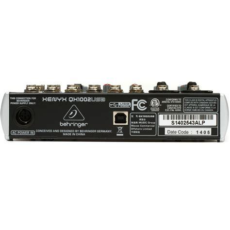 Mixer Behringer Xenyx Qx1002usb behringer xenyx qx1002usb premium 10 input 2 mixer