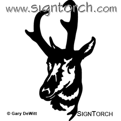 pronghorn signtorch turning images  vector cut paths