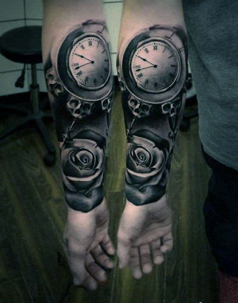 hand tattoo rose clock 57 best tattoo hand s images on pinterest tattoo ideas