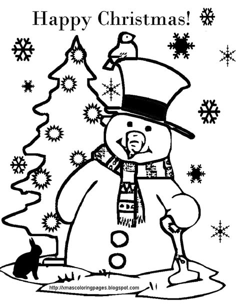 Tree And Snowman Coloring Pages Xmas Coloring Pages by Tree And Snowman Coloring Pages