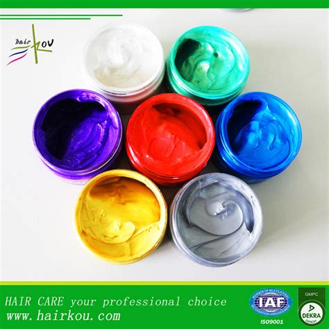 Pomade Color hair pomade wax for hair styling temporary coloring pomade
