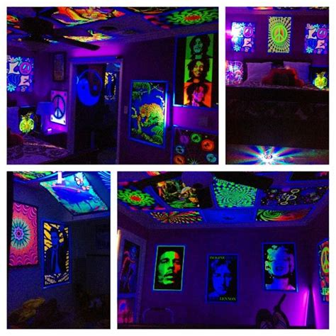 hippy black light room bedroom black light