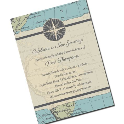 travel baby shower invitation map personalized by kreativees